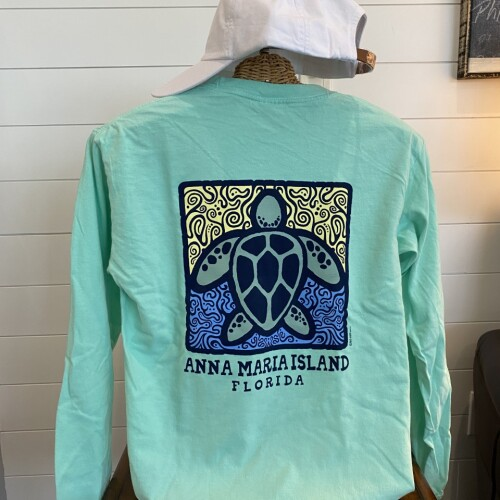 Two Sides Teal Turtle