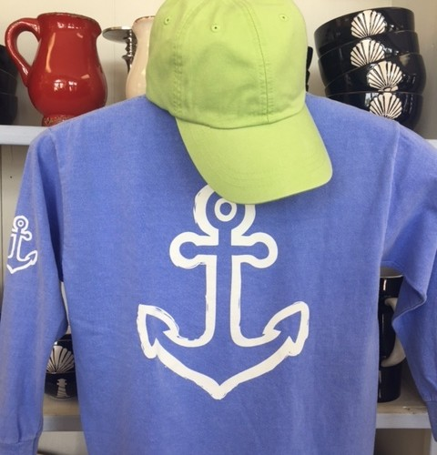 Kids Long Sleeve Anchor Back