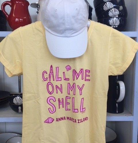 Ladies Call Me On My Shell V Neck