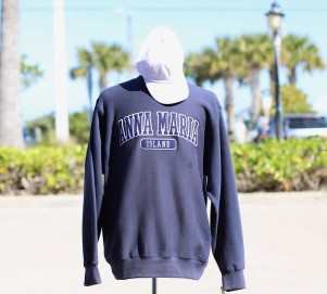navy ami crew sweatshirt