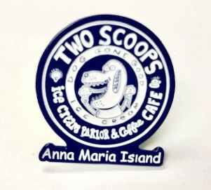 Two Scoops Logo Pin