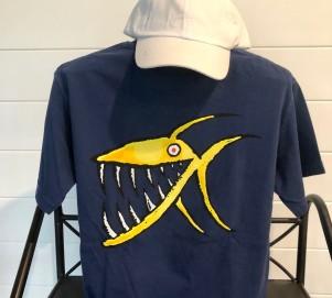 True Navy Piranha Back