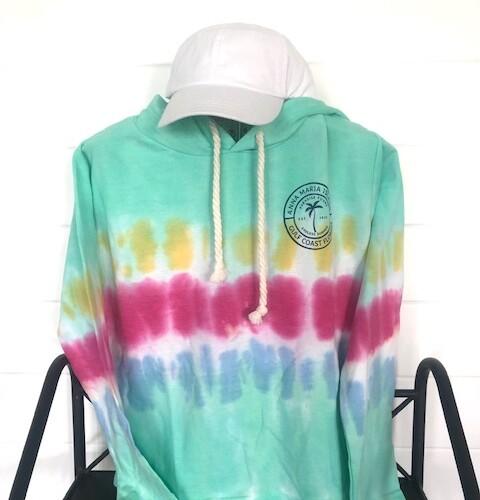 AMI bright tie dye hoodie