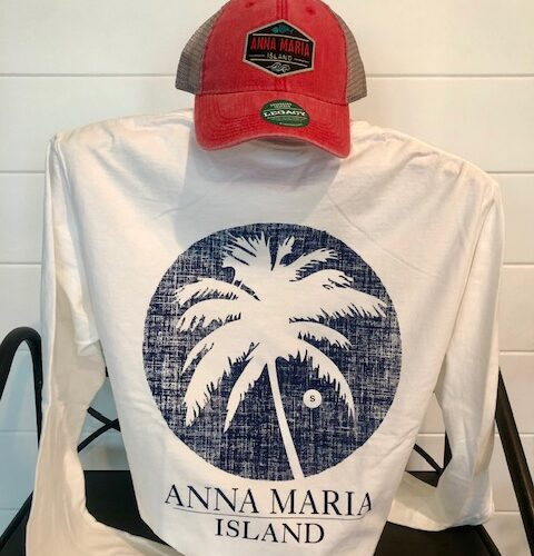 AMI navy circle palm back