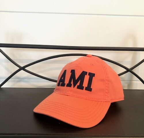 AMI stitched hat_coral
