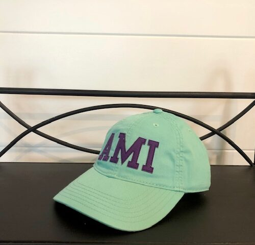 AMI stitched hat_teal