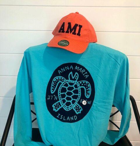 lagoon blue turtle long sleeve back